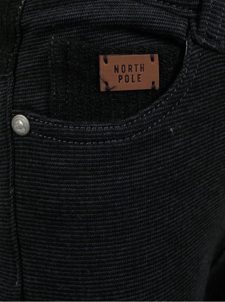 Tmavě šedé žíhané klučičí kalhoty North Pole Kids