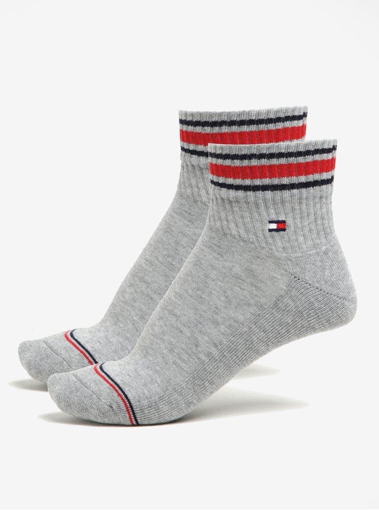 Sada dvou párů pánských  ponožek v šedé barvě Tommy Hilfiger