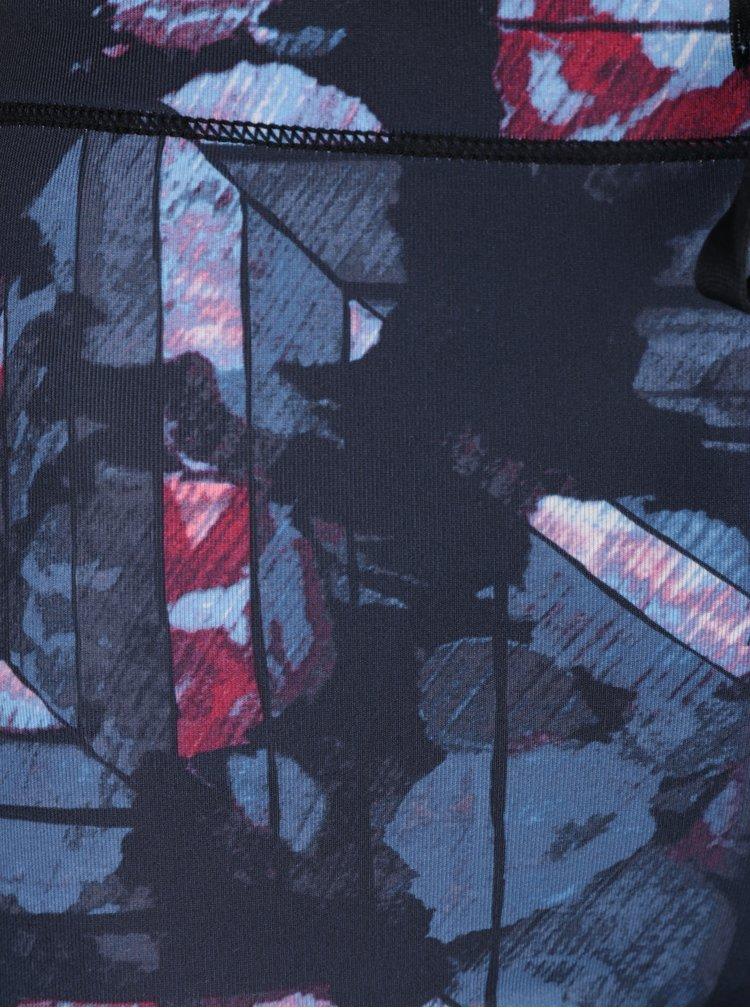 Růžovo-modré dámské vzorované funkční legíny Roxy Stay On