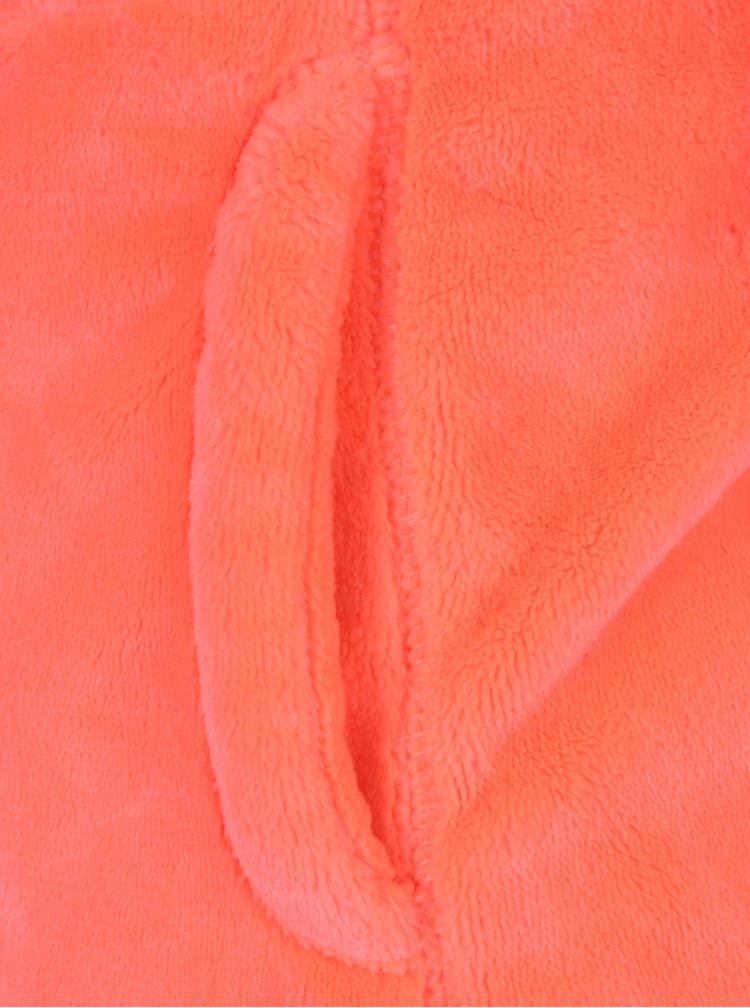 Neonově růžová holčičí mikina s nášivkou Roxy Igloo