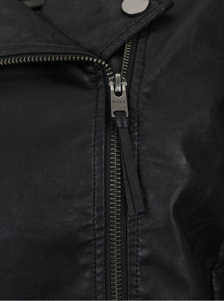 Jacheta biker neagra cu fermoar asimetric - Roxy Midnight