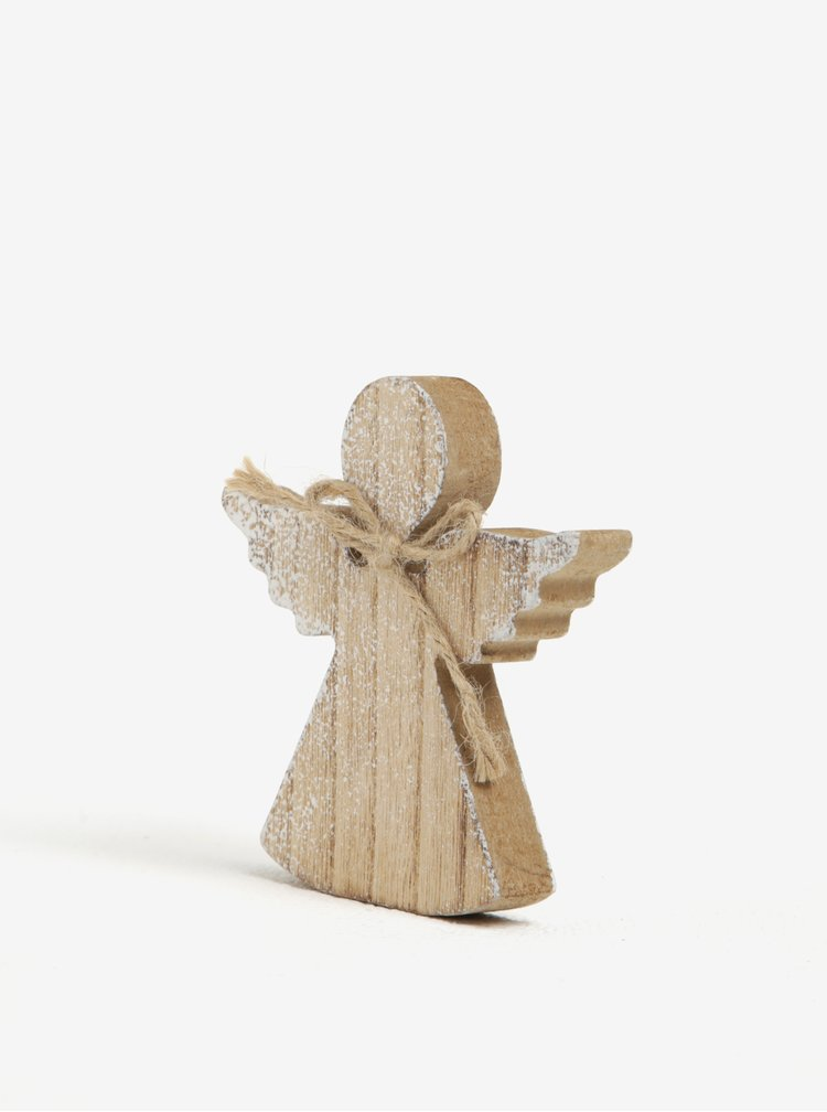 Piesa decorativa crem in forma de ingeras Dakls