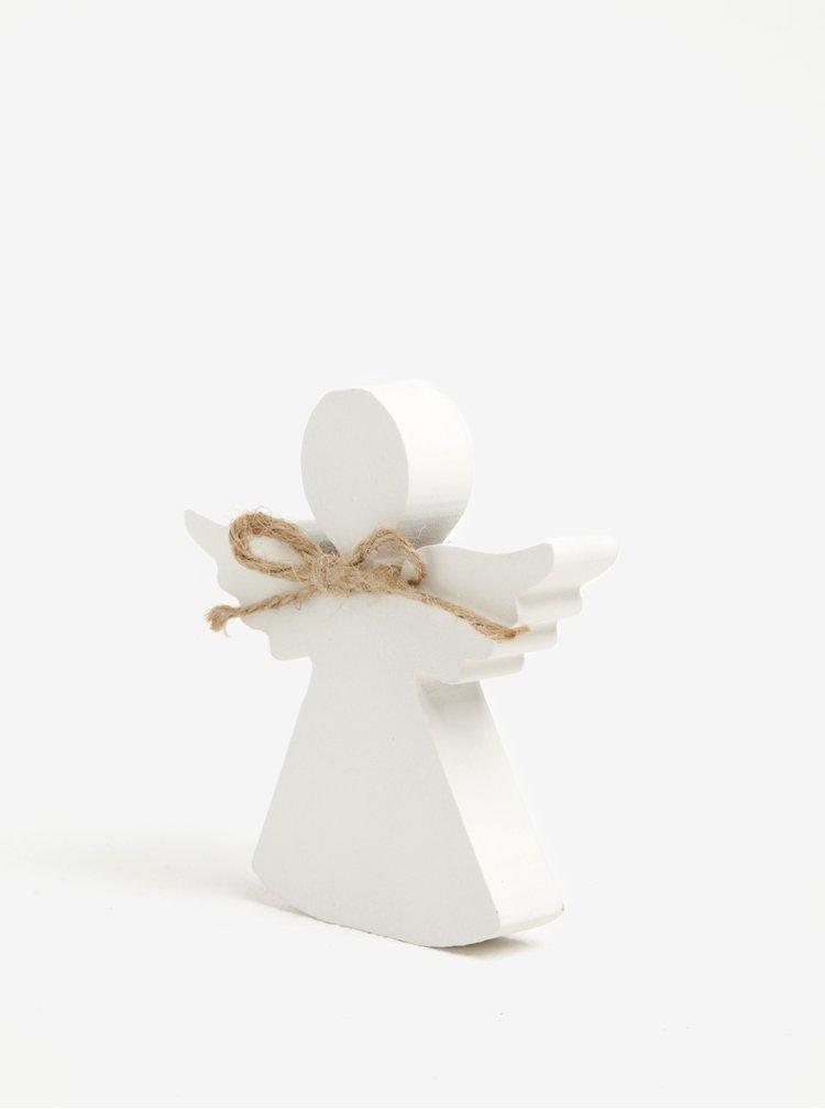 Dekorace ve tvaru anděla v bílé barvě Dakls