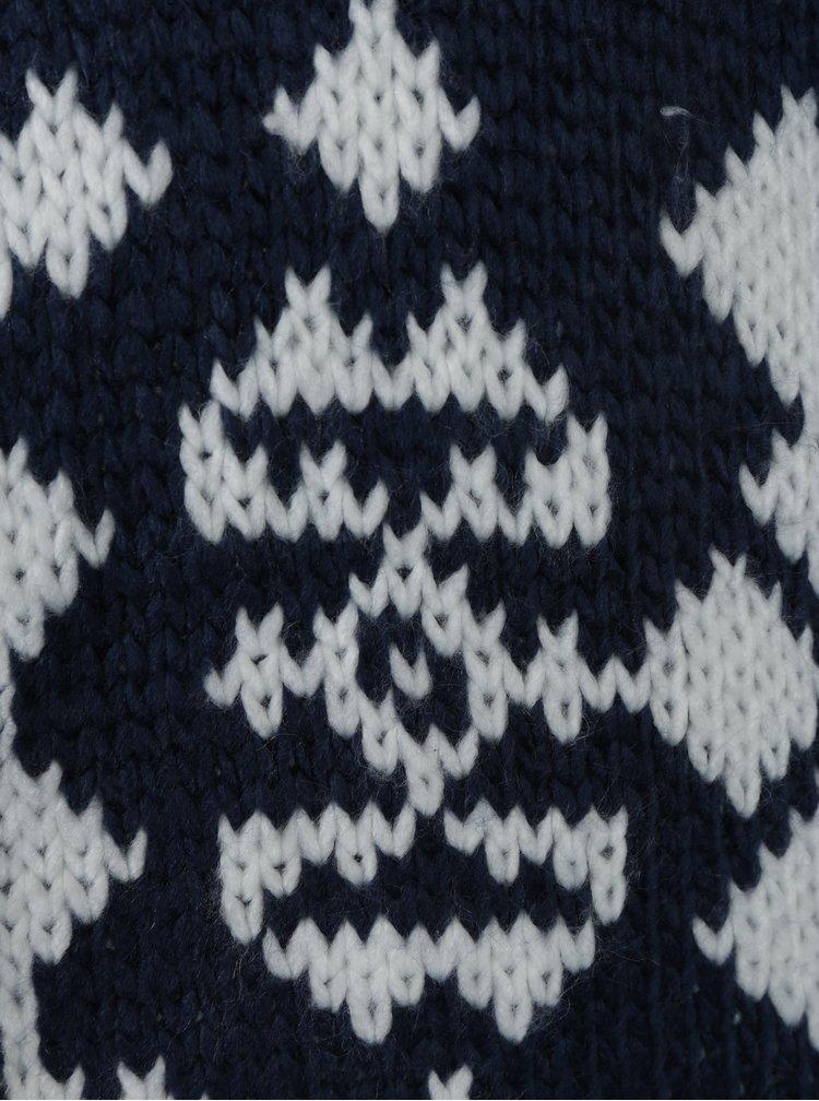 Bílo-modrý dámský vzorovaný kardigan Roxy Karid