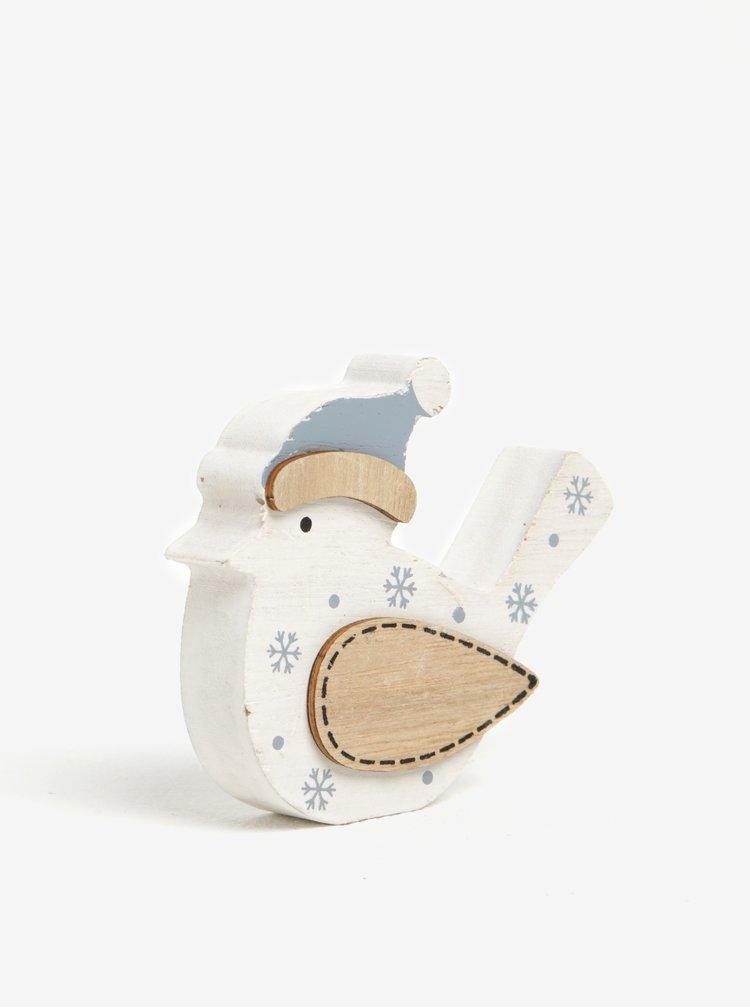 Dekorace ve tvaru ptáka v bílé barvě Dakls