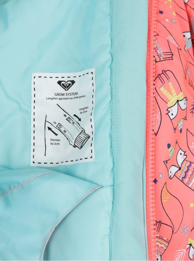 Neonově oranžová holčičí vzorovaná bunda Roxy Mini Jetty