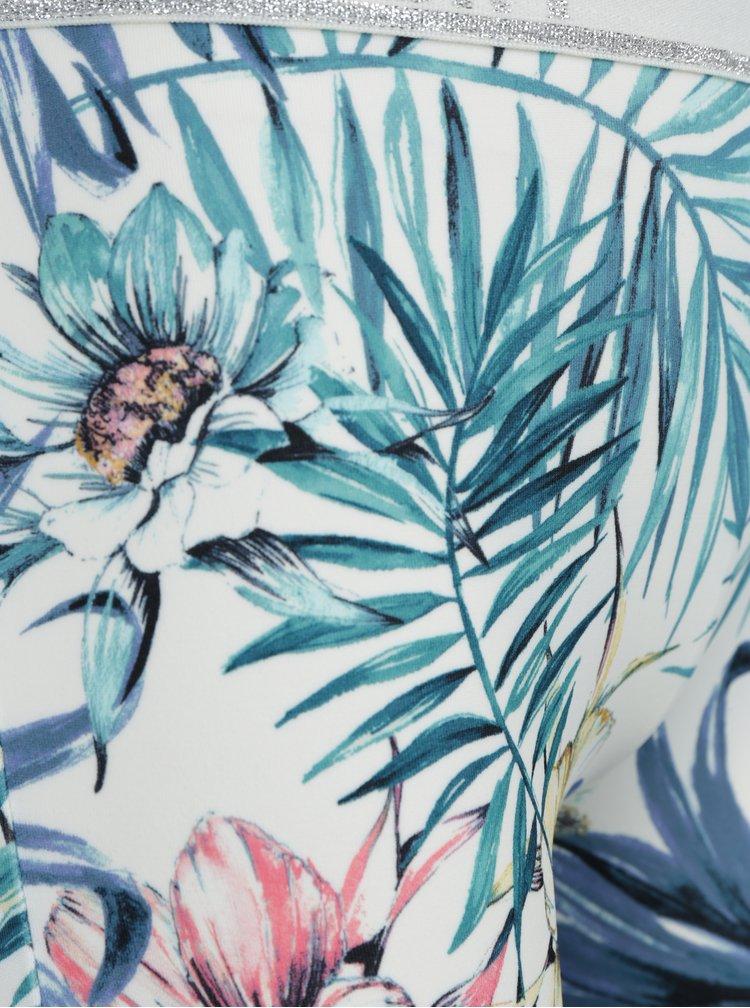 Modro-bílé holčičí vzorované legíny Roxy Bling Surf