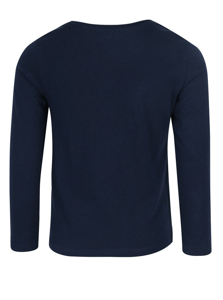 Tmavě modré holčičí tričko s potiskem Roxy Neverage