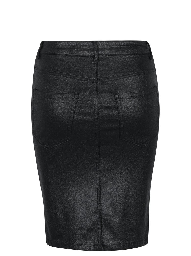Černá třpytivá pouzdrová sukně VERO MODA Mine