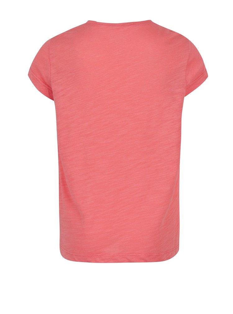 Oranžové holčičí žíhané tričko s potiskem Roxy Floating Bubble