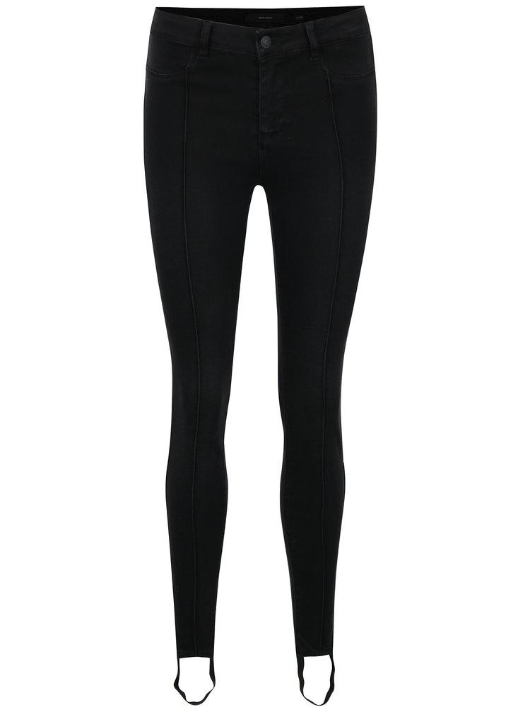 Černé slim fit džíny VERO MODA Seven