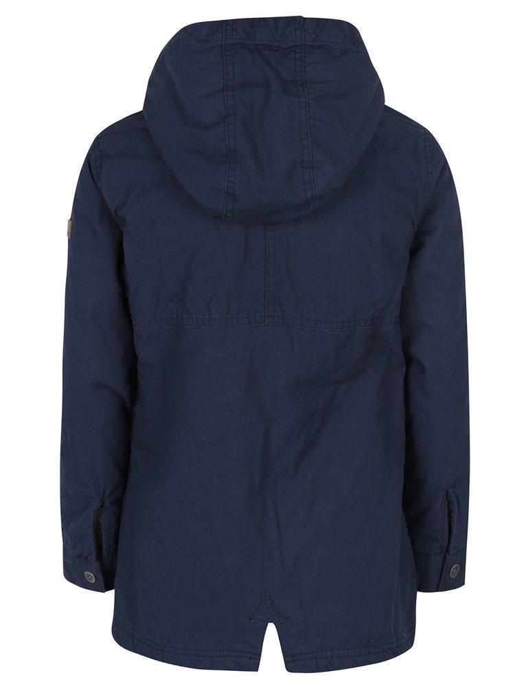 Tmavě modrá holčičí bunda s kapucí Roxy European
