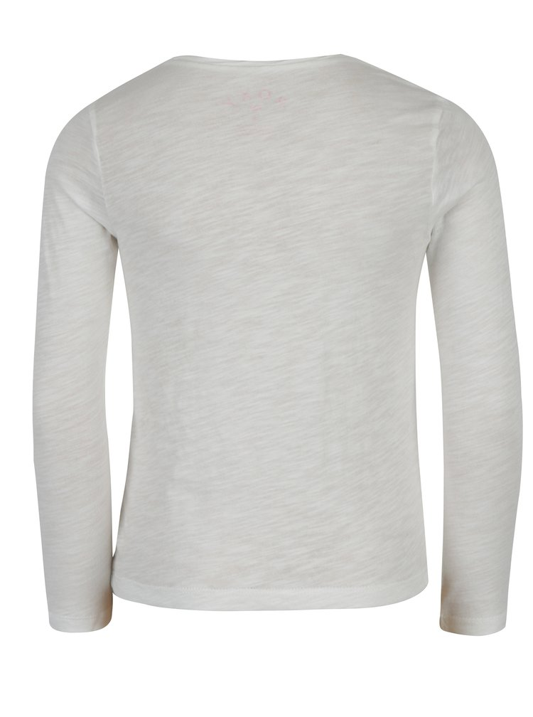Krémové holčičí žíhané tričko s potiskem Roxy Gradual