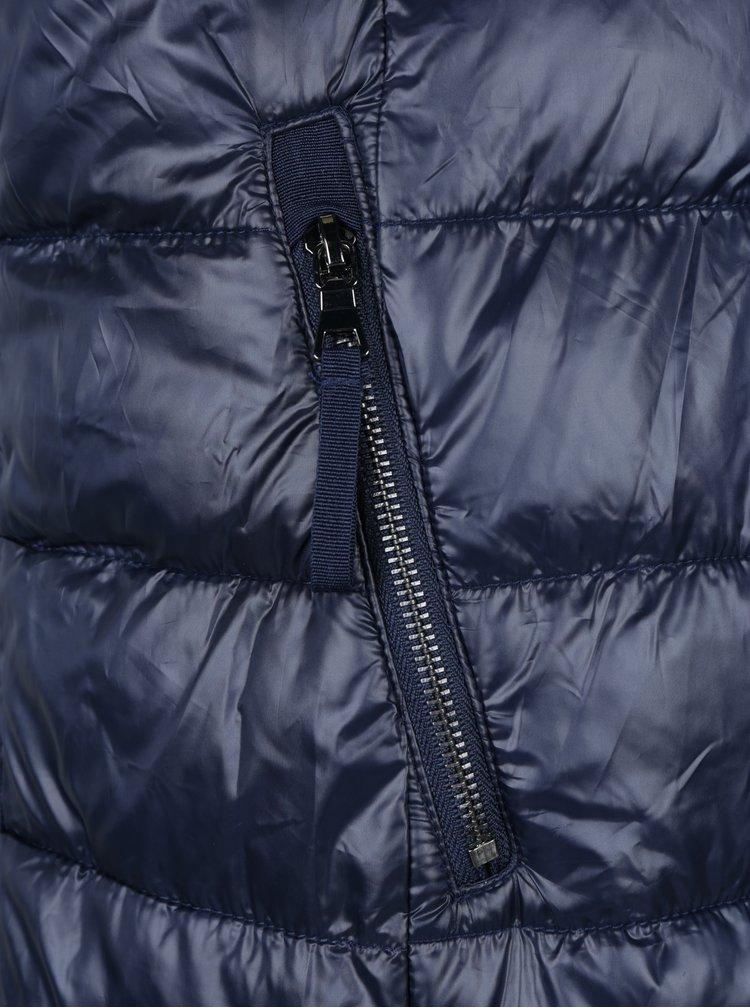 Tmavě modrý prošívaný kabát VERO MODA Onella