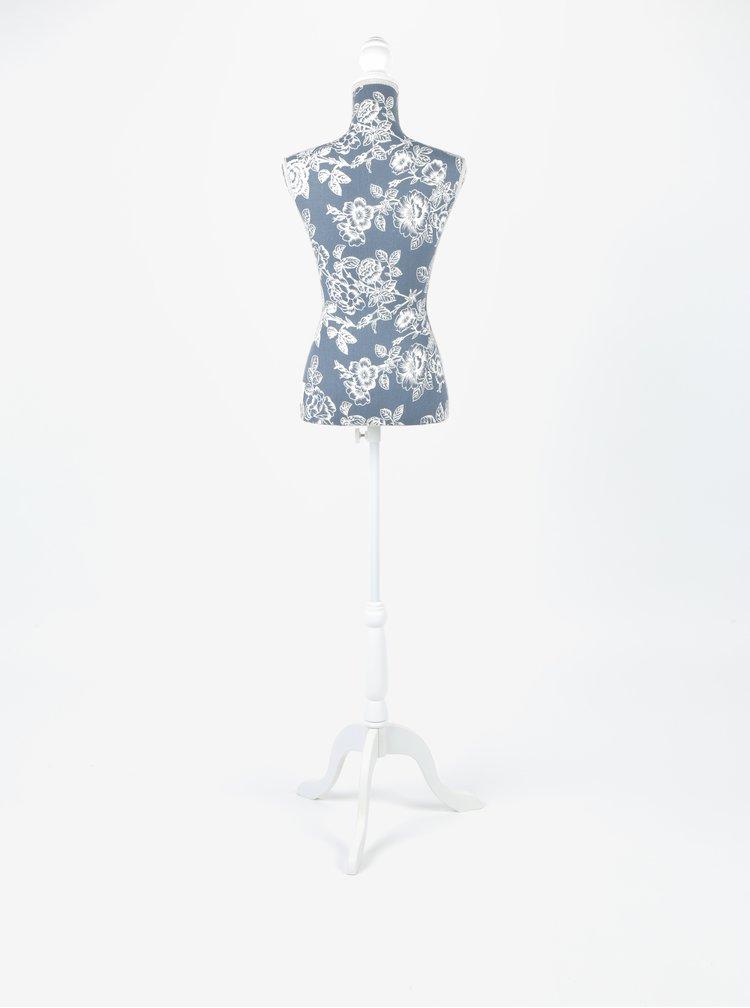 Krémovo-šedá Figurína se vzorem Dakls