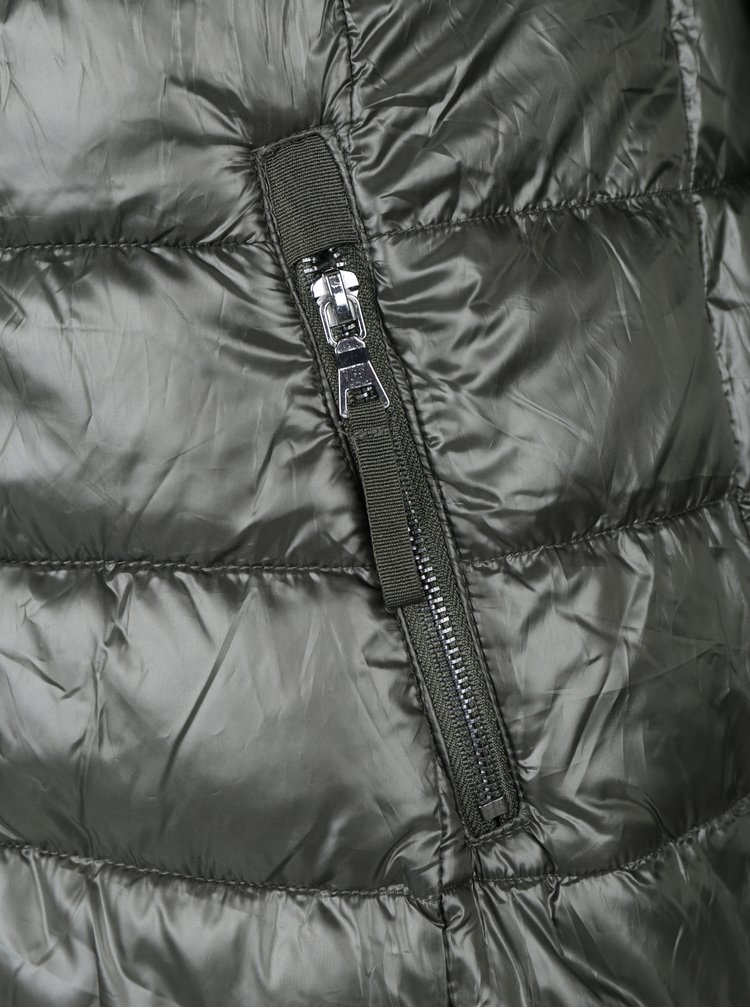 Tmavě zelený prošívaný kabát VERO MODA Onella