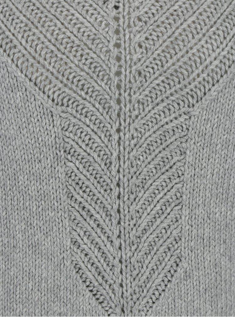 Šedý dámský svetr se vzorem a příměsí vlny Roxy Take Over