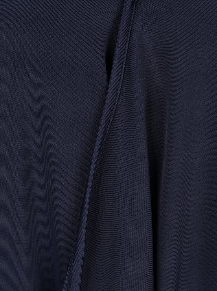 Tmavě modrá halenka s véčkovým výstřihem VERO MODA Jennie