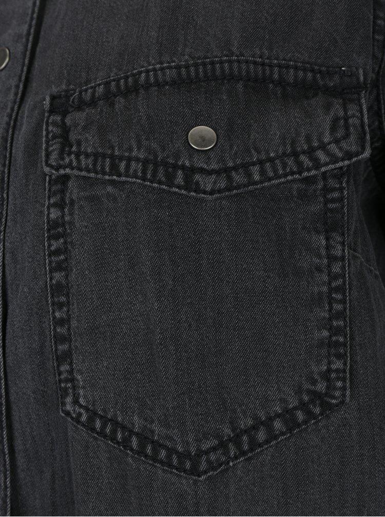 Černá košile s dlouhým rukávem VERO MODA Sammi