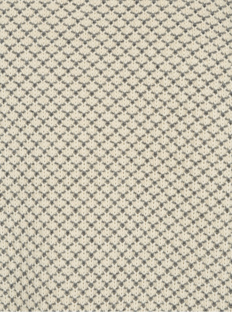 Šedo-krémový vzorovaný svetr SUIT Ingolf