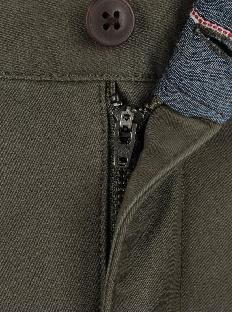 Khaki chino kalhoty SUIT Frank