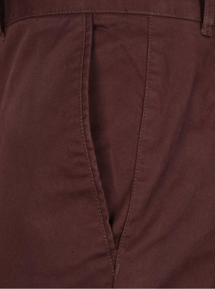 Hnědé chino kalhoty SUIT Frank
