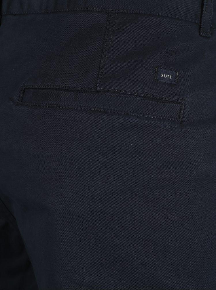 Tmavě modré chino kalhoty SUIT Frank
