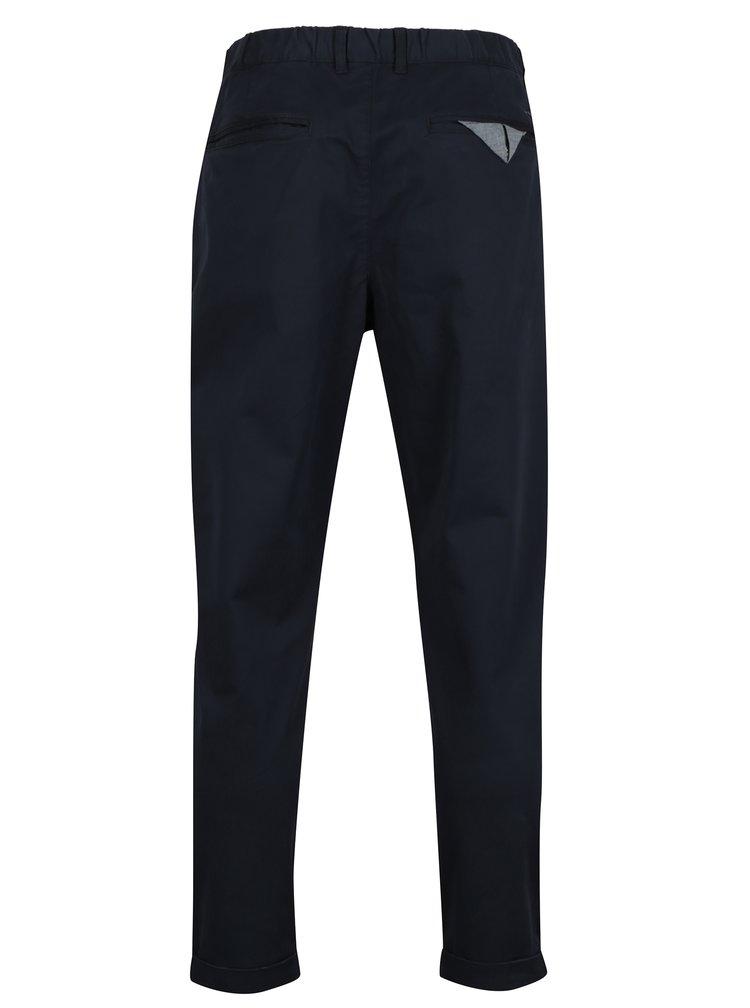 Tmavě modré zkrácené chino kalhoty SUIT Liam