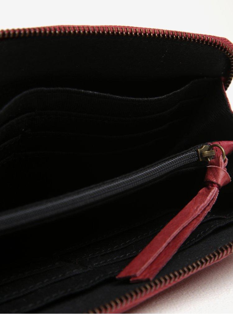 Vínová dámská kožená peněženka Pieces Vibs