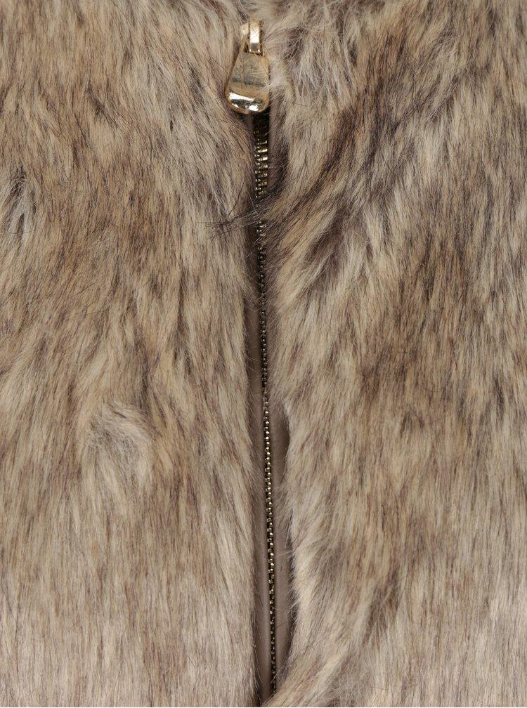 Vesta lunga maro din blana artificiala Dorothy Perkins