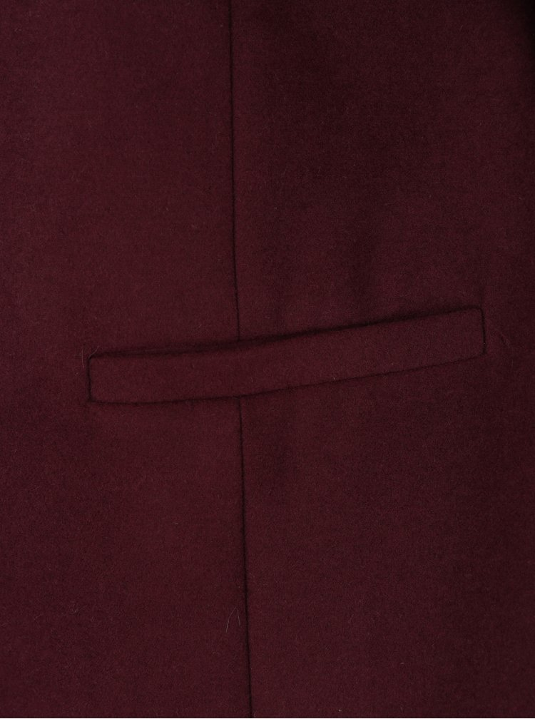 Vínový kabát s kapsami Dorothy Perkins
