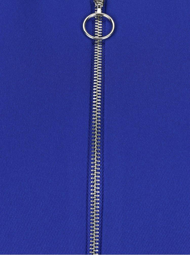 Secou peplum albastru cu fermoar argintiu - Dorothy Perkins