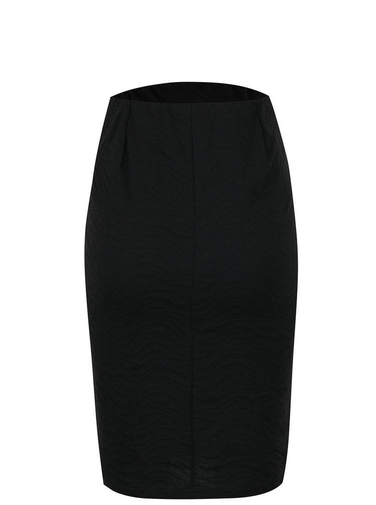 Fusta neagra dreapta cu model in relief pentru gravide Mama.licious Uma