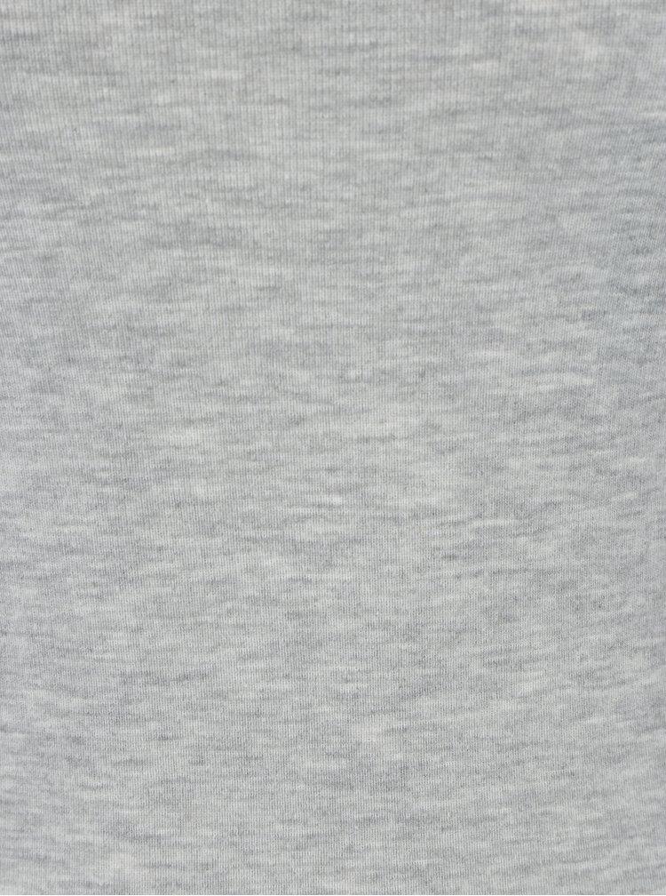 Šedé žíhané tričko s dlouhým rukávem Dorothy Perkins