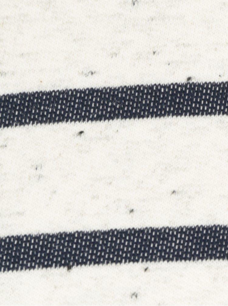 Modro-krémové pánské pruhované tričko s dlouhým rukávem Makia Hamn