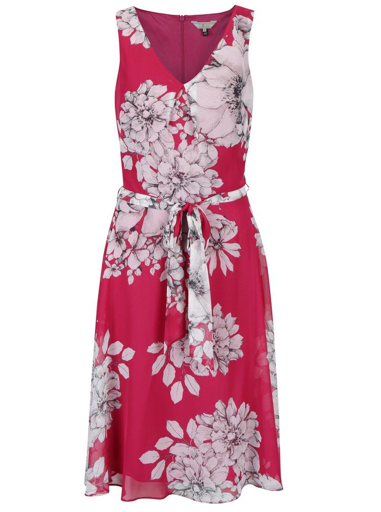 Růžové květované šaty se zavazováním Billie & Blossom