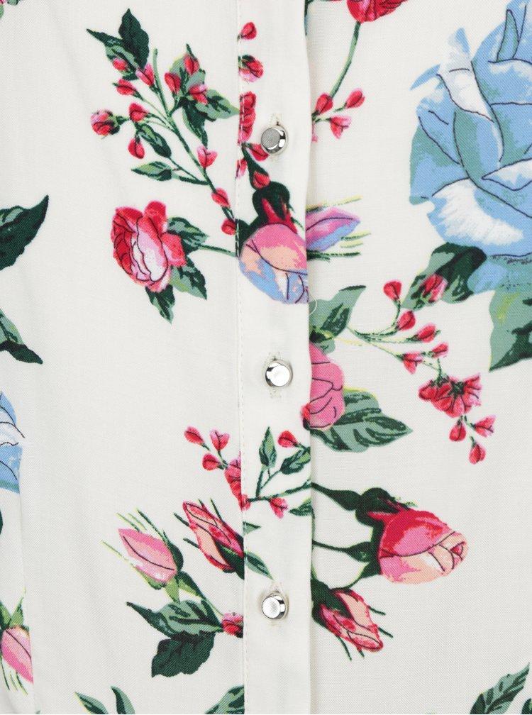 Krémová květovaná halenka s knoflíky na zádech Billie & Blossom