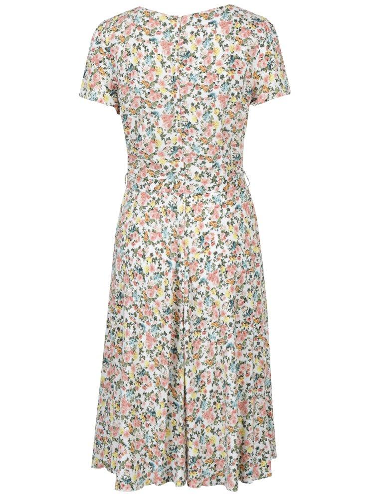 Rochie crem cu print floral Billie & Blossom