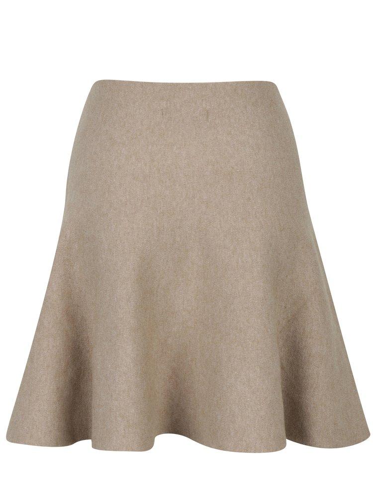 Béžová áčková sukně VILA Olivina