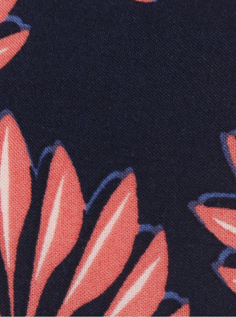 Tmavě modrá květovaná volná halenka VERO MODA Boca