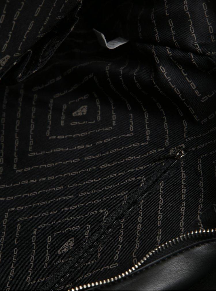 Geanta neagra cu volane laterale Fornarina Lily