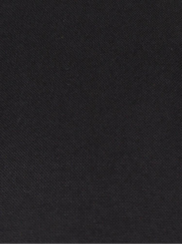 Černá halenka s krajkovým dekoltem VILA Agnia