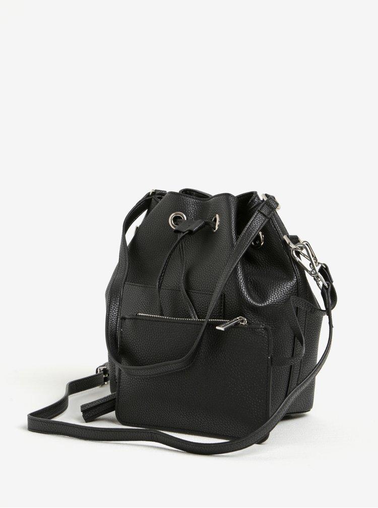 Černá vaková kabelka s pouzdrem 2v1 Fornarina Minnie