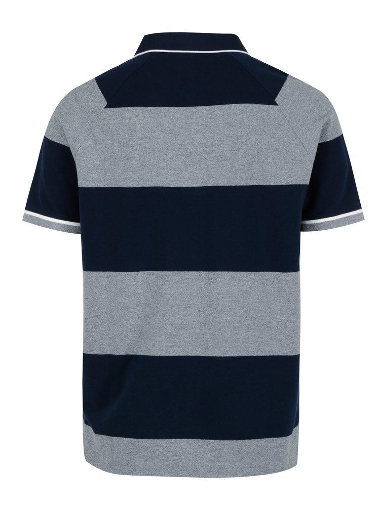 Modro-šedé pánské pruhované polo tričko GANT