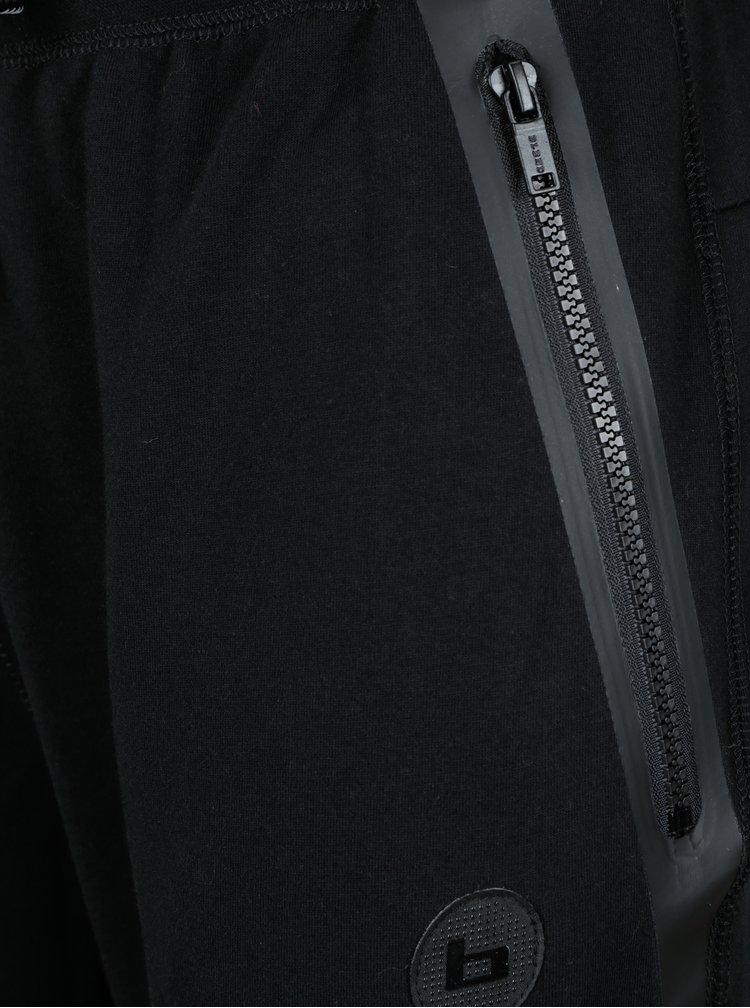 Pantaloni sport negri stramti cu fermoare Blend