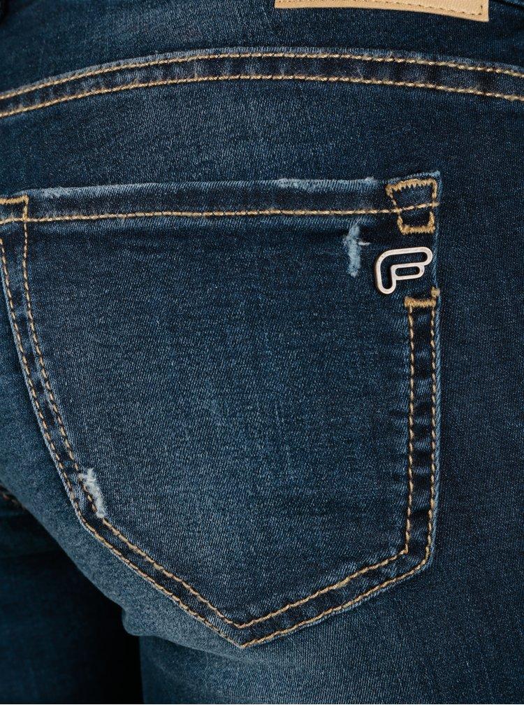 Tmavě modré skinny džíny s opraným efektem Fornarina Bambi