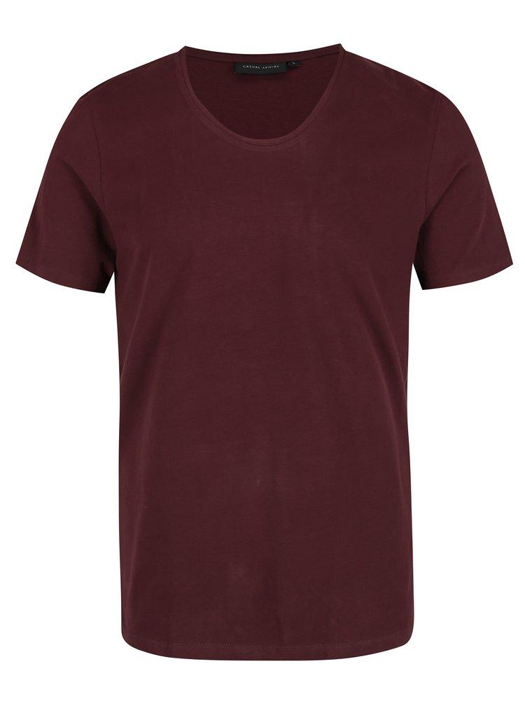 Vínové pánské basic tričko Casual Friday by Blend