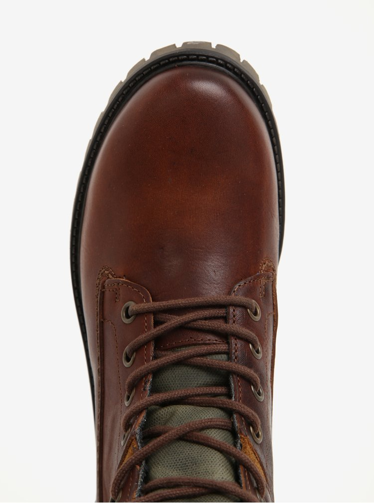 Hnědé kotníkové kožené boty U.S. Polo Assn.