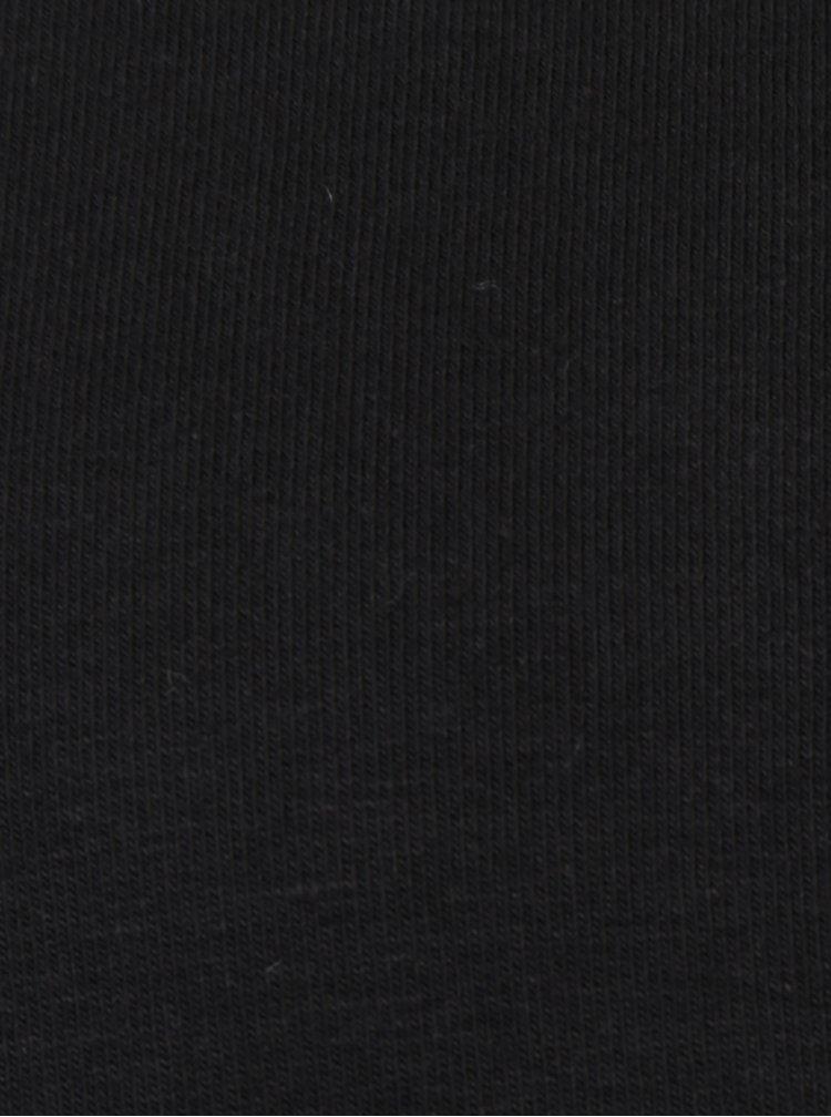 Černá mikina s kovovými detaily Fornarina Gloria
