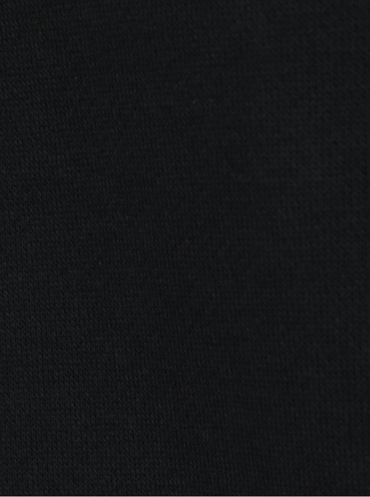 Černá dlouhá mikina s krajkovou sukní a kovovými detaily Fornarina Simona
